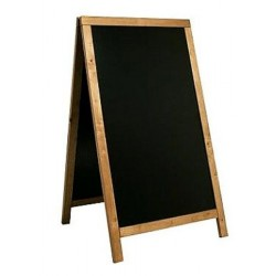 A - tabuľa 68 x 120 cm Securit Sandwich - Teak